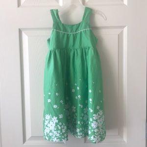 Carters size 5 pretty green dress